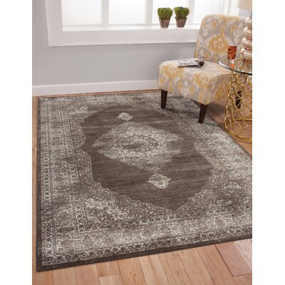 Beecroft Chocolate/Silver Area Rug Rug Size: 5 x 8