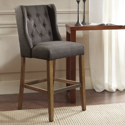 Maxwell 30 Bar Stool Upholstery: Charcoal