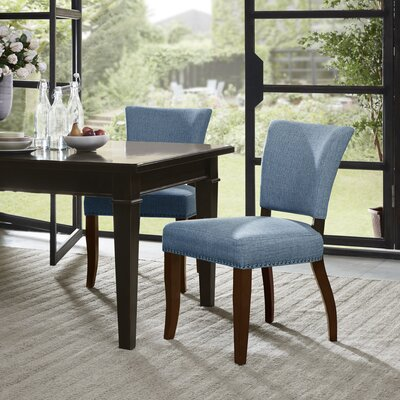 Gilberton Side Chair Upholstery: Blue