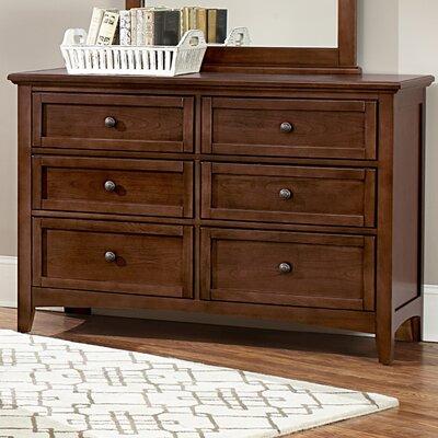 Gastelum 6 Drawer Double Dresser Finish: Warm Cherry DBHC8235 28656554