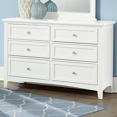 Gastelum 6 Drawer Double Dresser Finish: Soft White