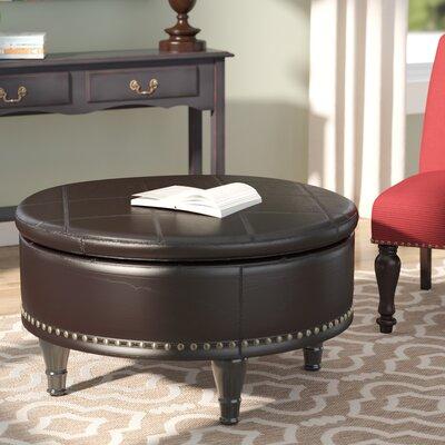 Ellen Bonded Leather Storage Ottoman Upholstery: Espresso
