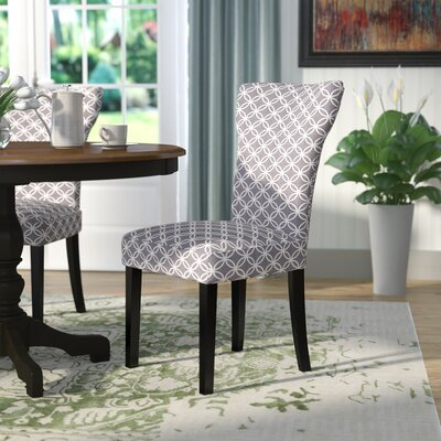 Lovington Side Chair Upholstery color: Gray with Print