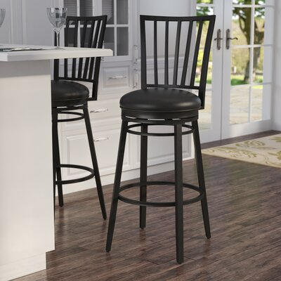 Bonilla 30 Swivel Bar Stool Finish: Black
