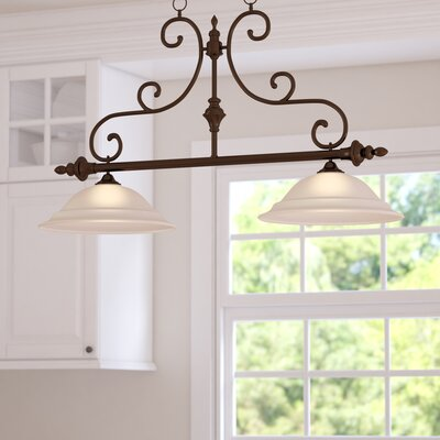 Knapp 2-Light Kitchen Island Pendant Finish: Burnished Bronze