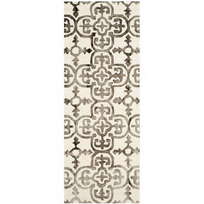 Naples Park Ivory/Brown Area Rug Rug Size: Runner 23 x 12