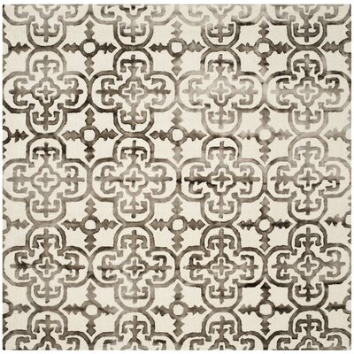 Naples Park Ivory/Brown Area Rug Rug Size: Square 7
