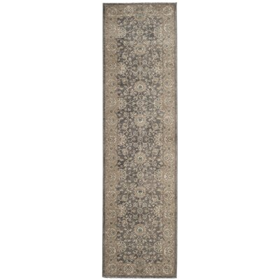 Sofia Power Loom Synthetic Beige/Gray Area Rug Rug Size: Runner 22 x 8