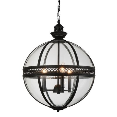 Reggie 3-Light Chain Globe Pendant