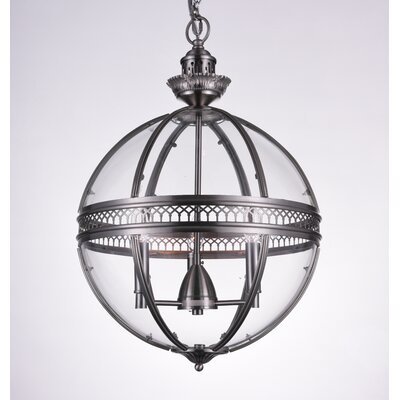 Reggie 3-Light Globe Pendant Finish: Satin Nickel