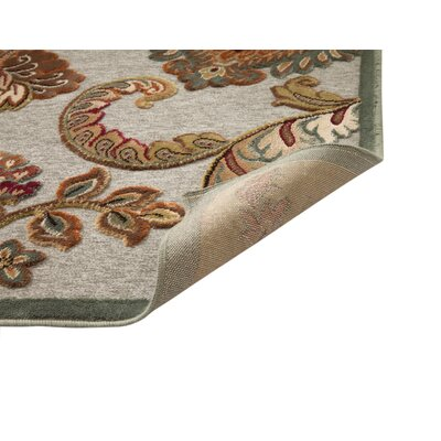 Louisa Grey/Blue/Tan Area Rug Rug Size: 53 x 76