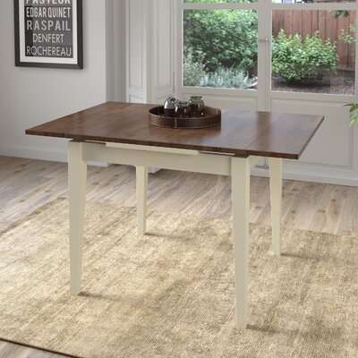Wallace Extendable Dining Table Finish: Dark Brown/Cream