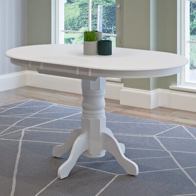 Wallace Classic Extendable Dining Table Finish: White