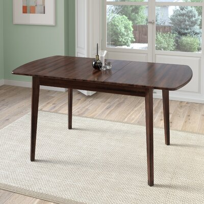 Wallace Extendable Solid Wood Dining Table Finish: Cappuccino