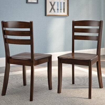 Liggett Contemporary Solid Wood Dining Chair Finish: Cappuccino