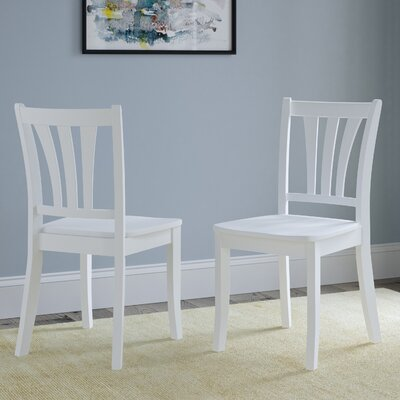 Liggett Modern Solid Wood Dining Chair Finish: White