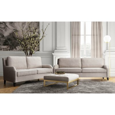 Hanriette Living Room Set (Set of 2) Upholstery: Beige
