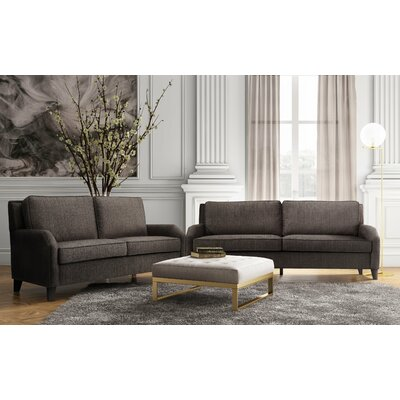 Hanriette Living Room Set (Set of 2) Upholstery: Grey