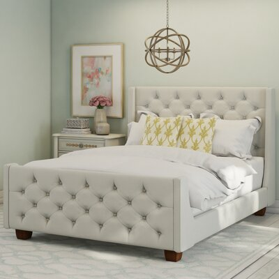 Upholstered Panel Bed Color: Gray, Size: King