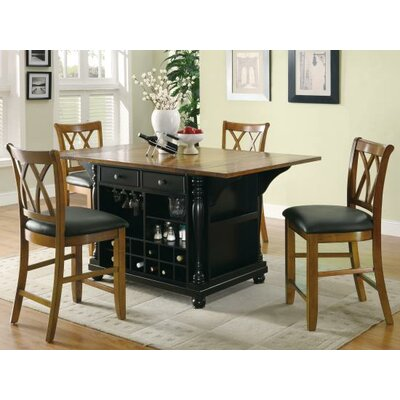 Callensburg Kitchen Island Finish: Black/Cherry