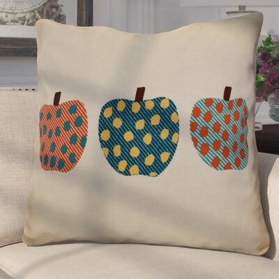 Pelle 3 Little Pumpkins Geometric Euro Pillow Color: Teal