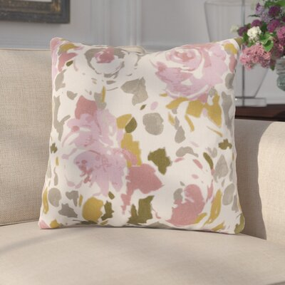 Paulding Throw Pillow Size: 18 H x 18 W x 4 D, Color: Brown/Pink