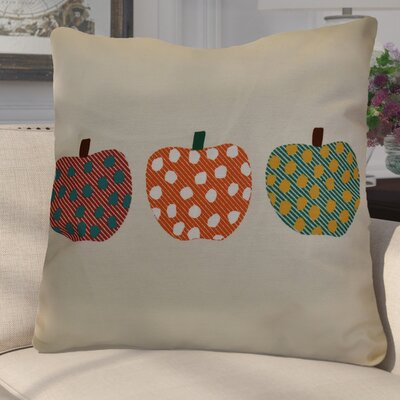 Leesville 3 Little Pumpkins Geometric Euro Pillow Color: Orange