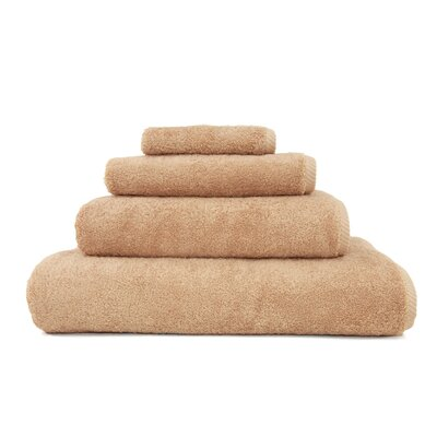 100% Turkish Cotton Soft Twist 4 Piece Towel Set Color: Warm Sand