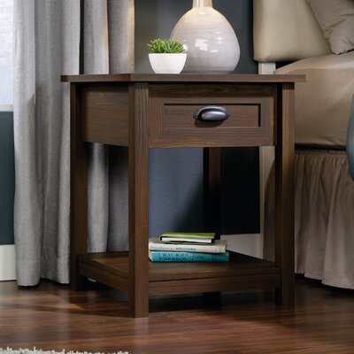 Rossford 1 Drawer Nightstand Color: Walnut