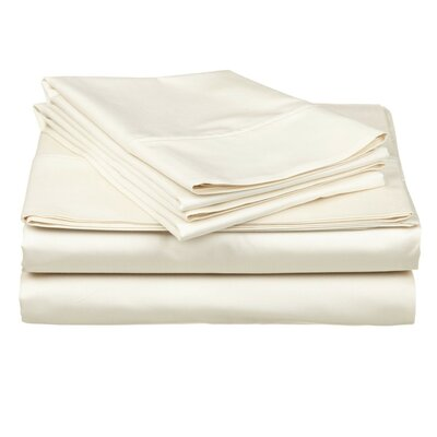 Valerie 618 Thread Count Thin Pocket Sheet Set Size: King, Color: Sand