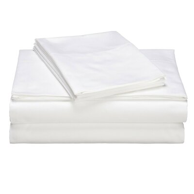Valerie 618 Thread Deep Pocket Sheet Set Size: Split California King, Color: White