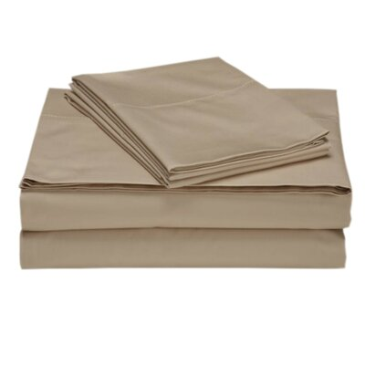 Valerie 618 Thread Deep Pocket Sheet Set Color: Sand, Size: Split California King