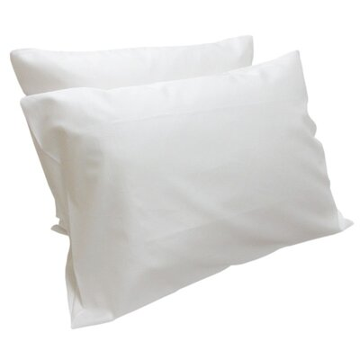 Valerie Sateen Pillowcases Size: King, Color: White