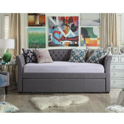 Milligan Twin Daybed with Trundle Color: Gray