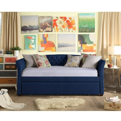 Horace Twin Daybed with Trundle Color: Navy