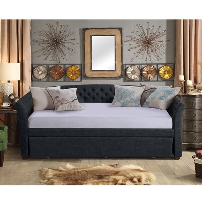Horace Twin Daybed with Trundle Color: Charcoal