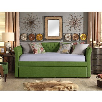 Horace Twin Daybed with Trundle Color: Green