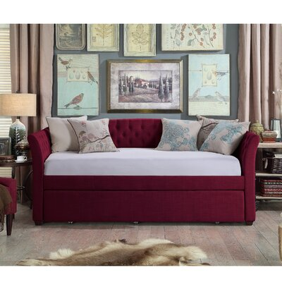 Milligan Twin Daybed with Trundle Color: Burgundy