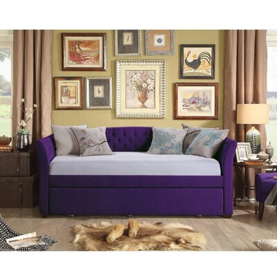 Horace Twin Daybed with Trundle Color: Violet