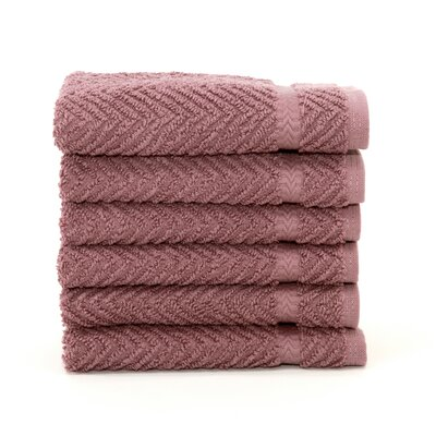 Herringbone Weave 100% Turkish Cotton Wash Cloth Color: Sugar Plum