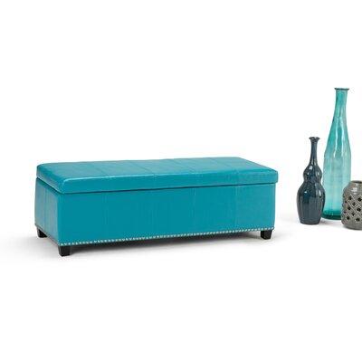 Fulton Ottoman Upholstery Color: Mediterranean Blue