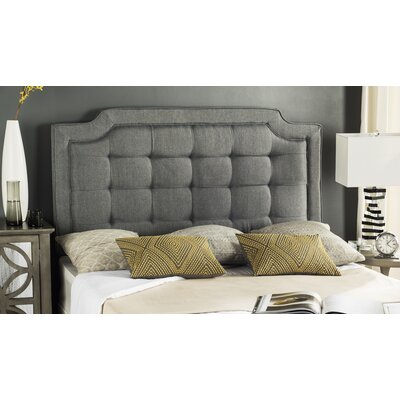 Findlay Upholstered Panel Headboard Size: Queen, Upholstery: Gray