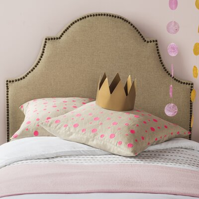 Cardella Upholstered Panel Headboard Finish: Brass, Size: Twin