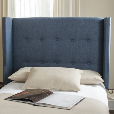Yale Upholstered Wingback Headboard Size: Full, Color: Denim Blue