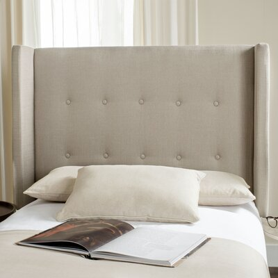 Yale Upholstered Wingback Headboard Size: Queen, Color: Smoke