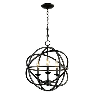 Baitz 3-Light Globe Pendant Finish: Rubbed Oil Bronze