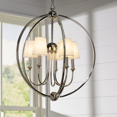 Barnaby 5-Light Globe Pendant Finish: Polished Nickel