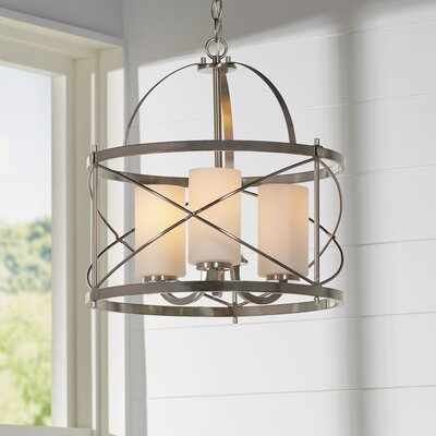 Farrier 3-Light Foyer Pendant Finish: Brushed Nickel