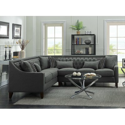 Babington Sectional Finish: Gray, Orientation: Left-Facing