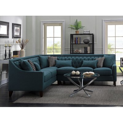 Babington Sectional Orientation: Left-Facing, Finish: Teal